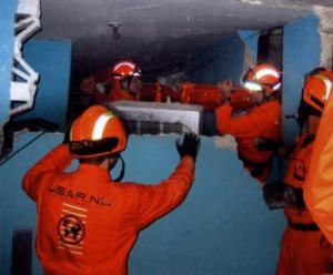 Het USAR-team kwam naar Haïti om levens te redden en doden te bergen.